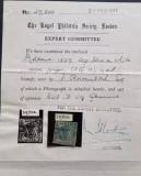 Cap de Bour 40 parale 1859 cu atestat din 1947