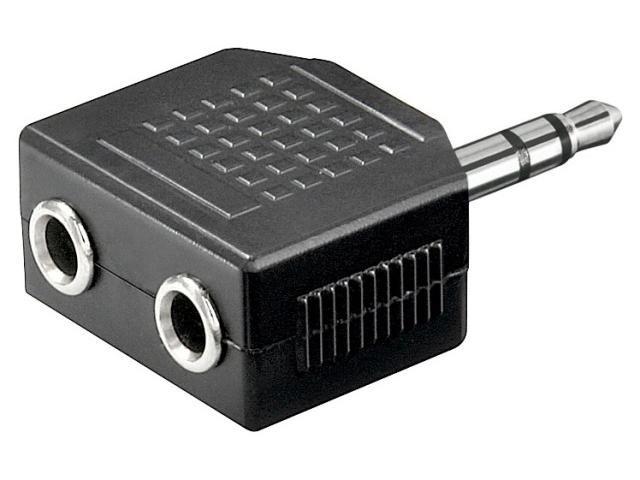 Adaptor Jack 3.5mm tata stereo - 2 jack 3.5mm mama