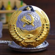 Ceas De Buzunar Model Sovietic Rusia - Model Auriu