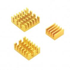 Set de Radiatoare din Aluminiu pentru Raspberry Pi 4 (Aurii)