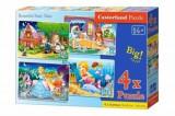 Cumpara ieftin Puzzle 4 in 1 - Povesti frumoase cu zane, 55 piese