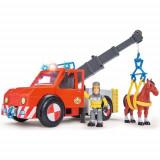 Masina de Pompieri Fireman Sam cu Figurina, Cal si Accesorii, Simba