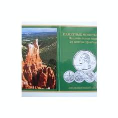 Mapa    de  prezentare     monede   SUA  25  centi (  Parcuri   nationale   )