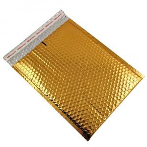 Set 10 plicuri cu bule antisoc, spatiu destinatar-expeditor, laminate, termoizolante, autoadezive Office Depot, 36x27 cm, Auriu
