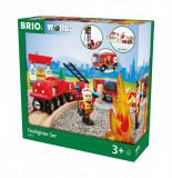 Set trenulet pompieri Brio 33815