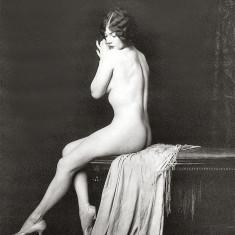 Fotografie Ultra HD dupa ilustrata veche femeie nud A4  21 cm x 30 cm