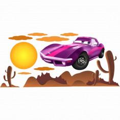 Stickere perete copii Cars violet - 170 X 70 cm