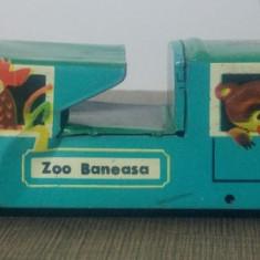 Trenulet Zoo Baneasa// jucarie romaneasca din tabla litografiata