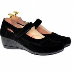Pantofi dama cu platforma din piele naturala - Foarte comozi P9154NVEL