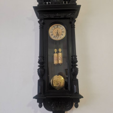 Pendula,ceas de perete,cu 2 greutati, REMEMBER,1878,revizuit,garantie,
