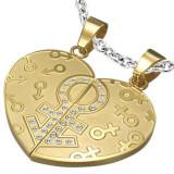 Cumpara ieftin Pandantiv divizat inimă - simboluri de gen, zircon