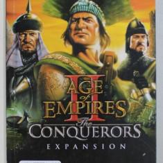 AGE OF EMPIRES II - THE CONQUERORS EXPANSION / THE AGE OF KINGS , CARTEA JOCULUI , TIPARITA FATA - VERSO , 2000