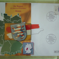 Cartela Telefonica + FDC Germania Hessen - Exponat Numerotat