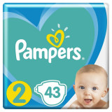 Pampers New Born - nr.2, 4-8 kg, 43 buc
