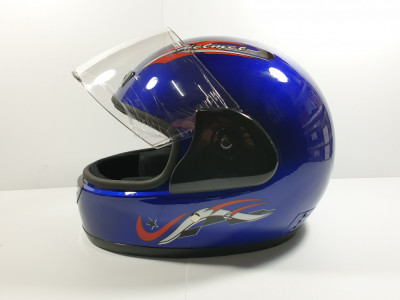 Casca Moto Scuter ATV Albastru foto