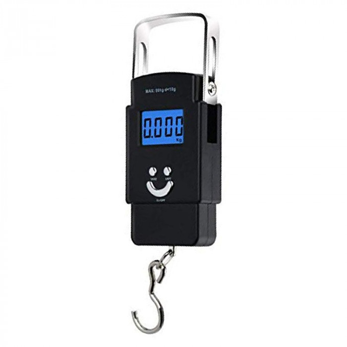 Cantar electronic Portable Scale, capacitate 40 kg, Negru