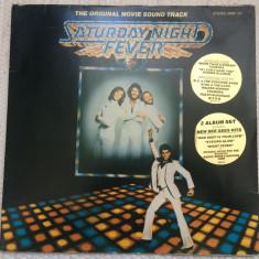 Saturday night fever soundtrack 2 lp dublu disc vinyl muzica pop disco germany