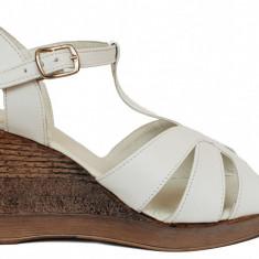 Sandale dama cu talpa ortopedica Ninna Art 119 alb