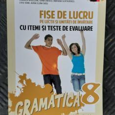 GRAMATICA CLASA A VIII A FISE DE LUCRU PE LECTII ARDELEAN , GURTAVENCO ,SASU