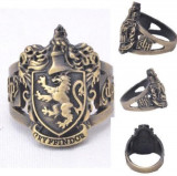 Inel Vintage Bronz HARRY POTTER Handmade Style - Gryffindor - Marimea 18