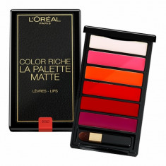 Paleta 6 rujuri L'Oreal Paris Color Riche La Palette Matte Bold, 6g