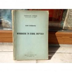 Introducere in studiul dreptului , Dan Ciobanu , 1991