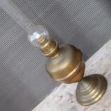 LAMPA VECHE PE PETROL CU BAZIN CONFECTIONAT INTEGRAL DIN ALAMA, FUNCTIONALA