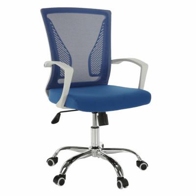 Fotoliu de birou, albastru/alb/crom, IZOLDA foto