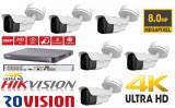 Cumpara ieftin Kit 6 camere supraveghere 4K 8MP, IR 60m, zoom motorizat + DVR 8 canale 4K 8MP Turbo HD HikVision