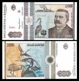Romania, 200 lei 1992_UNC_serie D.001- 519435