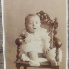 Copil in scaun// CDV Szollosy 1892, Fotograful M.S. Regelui Carol I