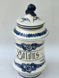 Vas vechi de farmacie, ceramic pentru ierburi medicinale - Albarello - Italia