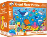 Puzzle Podea: Numaram animalute marine (30 piese) PlayLearn Toys, Galt