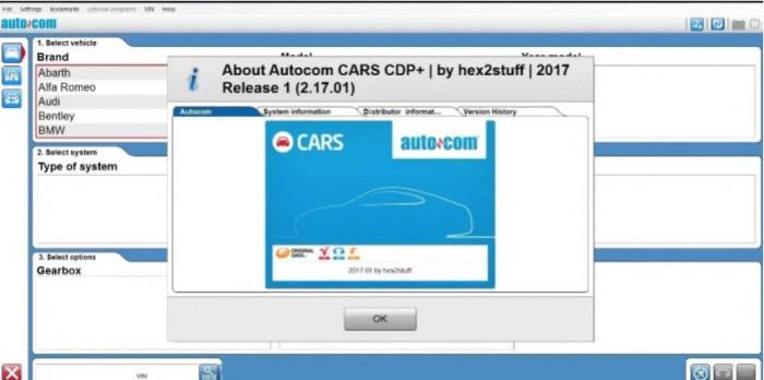 CD soft Autocom CDP+ / DELPHI DS150E 2015R3 / 2016R1 / 2017R1