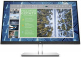 Monitor IPS LED HP 23.8inch E24 G4, QHD (2560 x 1440), VGA, HDMI, DisplayPort (Negru/Argintiu)