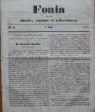 Foaia pentru minte , inima si literatura , nr. 21 , 1863 , Brasov , I. Muresanu