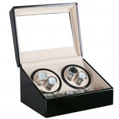 Dispozitiv pentru intors ceasuri automatice Watch Winder 4 + 6 Spatii WW460BW