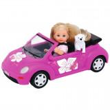 Cumpara ieftin Papusa Simba Evi Love 12 cm Evi's Beetle cu masina, catelus si accesorii