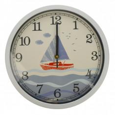 Ceas de perete, design cu barca, diametru 30 cm - CEAS06