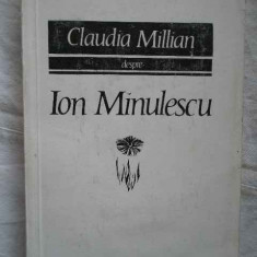 Despre Ion Minulescu - Claudia Millian ,271219