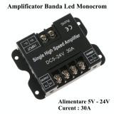 Amplificator Banda Led Monocrom 5V-24V / 30A