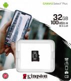 MicroSD Kingston, 32GB, Canvas Select Plus, Clasa 10 UHS-I Performance,