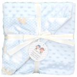Plapumioara pentru nou-nascuti cu 2 fatete: bumbac + plus, baby blue - Spania