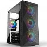 Cumpara ieftin Carcasa Gaming Inaza Stealth RGB, USB 3.0, 3x Vent. 120 mm LED RGB, Panou...