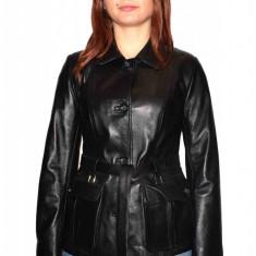 Haina dama, din piele naturala, marca Kurban, Z8-01-95, negru , marime: M