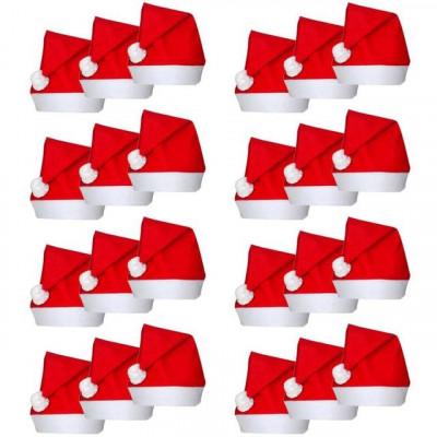 24 Căciuli de Moș Crăciun foto