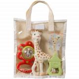 Set Cadou Saculet Girafa Sophie, Cadouri pentru copii, Vulli
