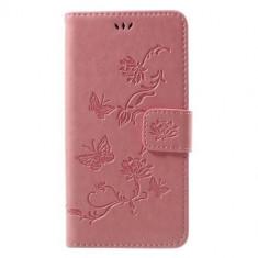 Husa Huawei P10 Lite Flip Cu Stand Roz