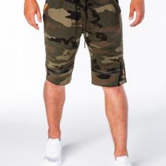 Pantaloni scurti barbati W055 green camo