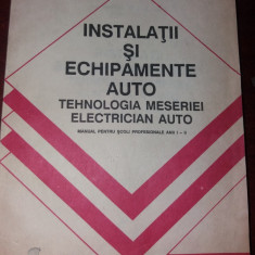 TEHNILOGIA MESERIEI ELECTRICIAN AUTO